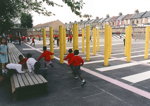 Daubeney Primary School Kids use the space